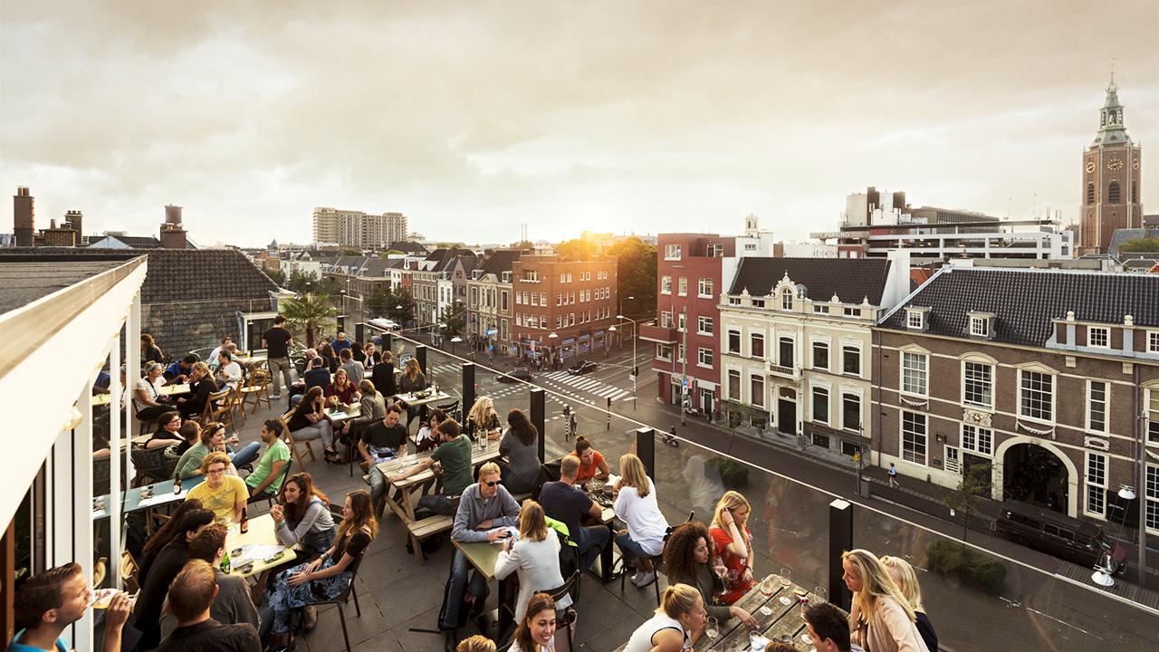Rooftop bar den haag grote markt